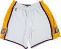 Basketball Collectibles:Others, 2000's Kobe Bryant Game Worn Los Angeles Lakers Alternate Shorts....