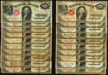 Large Size:Group Lots, A Large Lot of Thirty 1917 $1 Legal Tender Notes.. ... (Total: 30 notes)