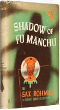 Books:Pulps, Sax Rohmer (pseudonym of Arthur S. Ward). Shadow of FuManchu. Garden City: Published for The Crime Club by Doub...