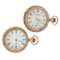 Timepieces:Pocket (post 1900), Two 14k Gold Waltham Hunter Cases. ... (Total: 2 Items)