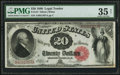 Large Size:Legal Tender Notes, Fr. 147 $20 1880 Legal Tender PMG Choice Very Fine 35 Net.. ...