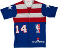 Basketball Collectibles:Uniforms, 1980's Washington Bullets Game Worn Warm-up Jacket.. ...