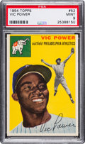 Baseball Cards:Singles (1950-1959), 1954 Topps Vic Power #52 PSA Mint 9 - None Higher....