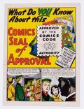 Golden Age (1938-1955):Non-Fiction, What Do You Know About This Comics Seal of Approval? #nn (DC, 1955)Condition: GD-....