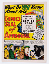 What Do You Know About This Comics Seal of Approval? #nn (DC, 1955) Condition: GD-