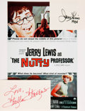 Autographs:Celebrities, [The Nutty Professor] Jerry Lewis and Stella StevensAutographs. ...