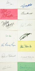 Autographs:Celebrities, [Hollywood's Golden Age] Collection of Fourteen Film ActorAutographs. ...