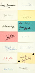Autographs:Celebrities, [Hollywood's Golden Age] Collection of Fourteen Film ActressAutographs. ...