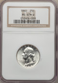 Washington Quarters, 1960 25C MS67 ★ White NGC. NGC Census: (70/0 and 4/0*). PCGSPopulation (15/0 and 4/0*). Mint...