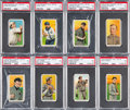 Baseball Cards:Lots, 1909-11 T206 White Borders Hall of Famers PSA EX 5 GradedCollection (8). ...