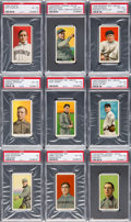 Baseball Cards:Lots, 1909-11 T206 White Borders PSA Graded Collection (9) - MostlyHoFers. ...