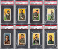Baseball Cards:Lots, 1909-11 T206 White Borders Hall of Famers PSA Graded Collection (8). ...