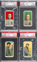 Baseball Cards:Lots, 1909-11 T206 White Borders Ty Cobb PSA Graded Quartet (4) - AllFour Poses! ...