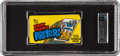 Non-Sport Cards:Unopened Packs/Display Boxes, Rare 1973 Topps Test Wacky Package Posters Wax Pack GAI NM-MT 8....