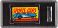 """Non-Sport Cards:Unopened Packs/Display Boxes, 1961 Topps """"Sports Cars"""" 5-Cent Wax Pack GAI NM+ 7.5. ..."""