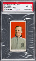 Baseball Cards:Singles (Pre-1930), 1909-11 T206 Sweet Caporal Ty Cobb, Red Portrait PSA VG-EX 4....