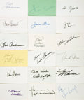Autographs:Celebrities, [Television] Collection of Eighteen 1970s' TV Star Autographs. ...