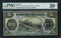 Canadian Currency: , DC-21d $5 1912. ...