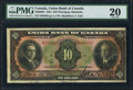 Canadian Currency: , Winnipeg, MB- The Union Bank of Canada $10 July 1, 1921 Ch. #730-20-04. ...