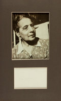 Autographs:Non-American, Lise Meitner Signature....