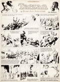 Original Comic Art:Comic Strip Art, Hal Foster Tarzan Sunday Comic Strip Original Art dated1-8-33 (United Feature Syndicate, 1933)....
