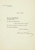 Autographs:U.S. Presidents, Herbert Hoover Typed Letter Signed as President. ...