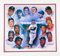 Baseball Collectibles:Others, 1996 500 Home Run Club Signed Lithograph. ...