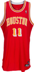 Basketball Collectibles:Uniforms, 2004-05 Yao Ming Game Worn Signed Houston Rockets Throwback Jersey....