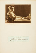 Autographs:Statesmen, Jane Addams Clipped Signature....