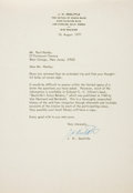 Autographs:Military Figures, Jimmy H. Doolittle Typed Letter Signed....