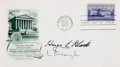 Autographs:Statesmen, Hugo Black and William Douglas Signed First Day Cover. ...