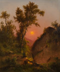Fine Art - Painting, American:Antique  (Pre 1900), Henry Ary (American, 1797-1859). View from the Bluff,Sunset. Oil on canvas. 24 x 20-1/8 inches (61.0 x 51.1 cm).Initia...