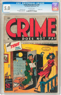 Golden Age (1938-1955):Crime, Crime Does Not Pay #43 (Lev Gleason, 1946) CGC VG/FN 5.0 Off-white pages....