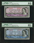 "Canadian Currency: , Matching Serial Number 440 1954 ""Devil's Face"" Portrait Set.. ...(Total: 4 notes)"