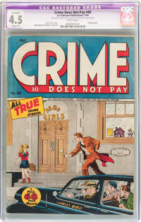 Crime Does Not Pay #46 (Lev Gleason, 1946) CGC Apparent VG+ 4.5 Slight (P) White pages