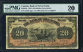 Canadian Currency: , Halifax, NS- The Bank of Nova Scotia $20 Jan. 2, 1925 Ch. #550-28-18. ...