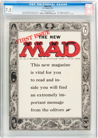 MAD #24 (EC, 1955) CGC VF- 7.5 Off-white to white pages