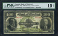 Canadian Currency: , Montreal, PQ- The Bank of Montreal $100 Jan. 2, 1923 Ch. # 505-56-10. ...