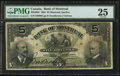Canadian Currency: , Montreal, PQ- The Bank of Montreal $5 Jan. 2, 1904 Ch. # 505-48-02. ...