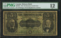 Canadian Currency: , Montreal, PQ- The Molsons Bank $5 Jul. 2, 1918 Ch. # 490-38-02 ....