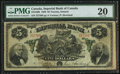 Canadian Currency: , Toronto, ON- Imperial Bank of Canada $5 Jan. 2, 1920 Ch. # 375-16-06. ...