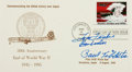 Autographs:Military Figures, [World War II]. First Day Cover Signed by Enola Gay's Paul Tibbets and Tom Ferebee. ...