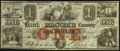 Obsoletes By State:Michigan, Mt. Clemens, MI- Bank of Macomb County $1 Apr. 1, 1858 G22a Lee MOU-1-10. ...