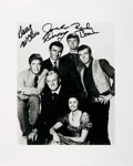 Autographs:Celebrities, [The Virginian] Cast Photo Signed by Three. ...