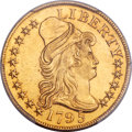 Early Half Eagles, 1795 $5 Small Eagle, BD-1, R.5 -- Cleaning -- PCGS Genuine. AU Details....