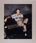 Baseball Collectibles:Photos, 1980 Mickey Mantle Signed Oversized Photograph by Ray Gallo. ...