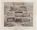 Baseball Collectibles:Others, 1888 Galaxy of the National League Lithograph by G.H. Hastings....