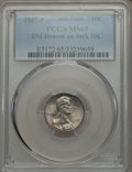 Errors, 1987-P 10C Roosevelt Dime -- Double Denomination With A Lincoln Cent on Struck 10C -- MS65 PCGS....