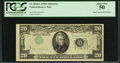 Error Notes:Inverted Third Printings, Fr. 2060-G $20 1950A Federal Reserve Note. PCGS About New 50.. ...