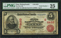 National Bank Notes:Pennsylvania, Etna, PA - $5 1902 Red Seal Fr. 587 The First NB Ch. # (E)6453. ...